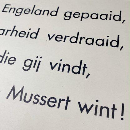 Original WWII Dutch NSB 'Mussert Wint' poster