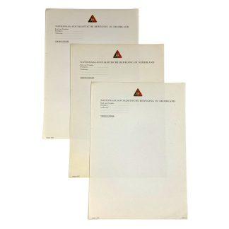 Original WWII Dutch NSB unissued document