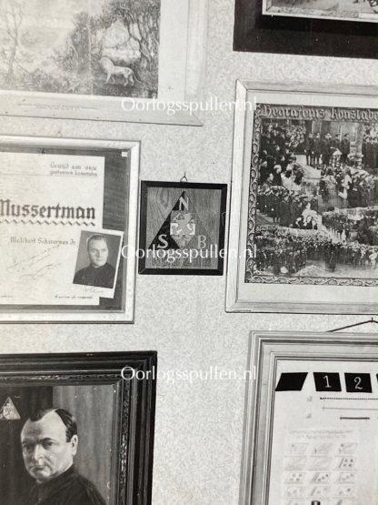 Original WWII Dutch NSB photo - Schuilenburg archive room