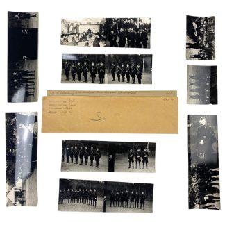 Original WWII Dutch NSB photo grouping W.A. sports insignia ceremony in Oud-Leusden