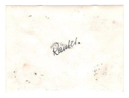 Original WWII German SS-Obergruppenführer Rauter photo with autograph