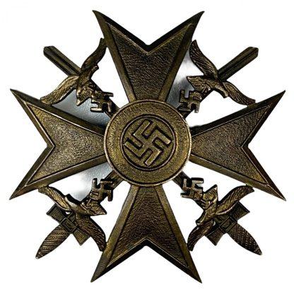 Original WWII German Spanish cross in bronze - Steinhauer & Lück