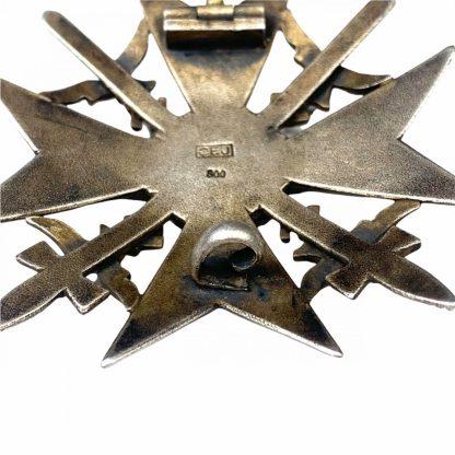 Original WWII German Spanish cross in Silver - Juncker