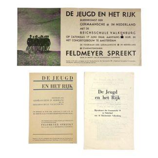 Original WWII Dutch Germaansche SS Reichschule Valkenburg set