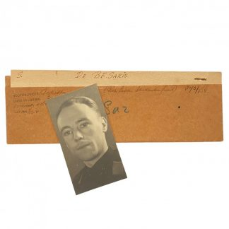 Original WWII Dutch Studentenfront portrait photo - B.F. Saris