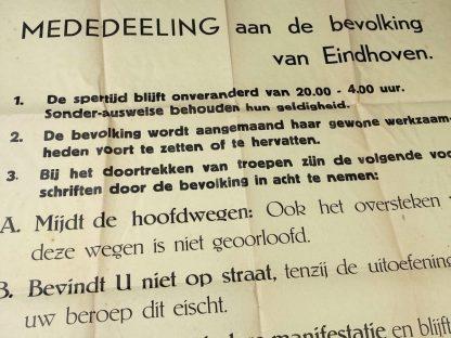 Original WWII Dutch poster Eindhoven